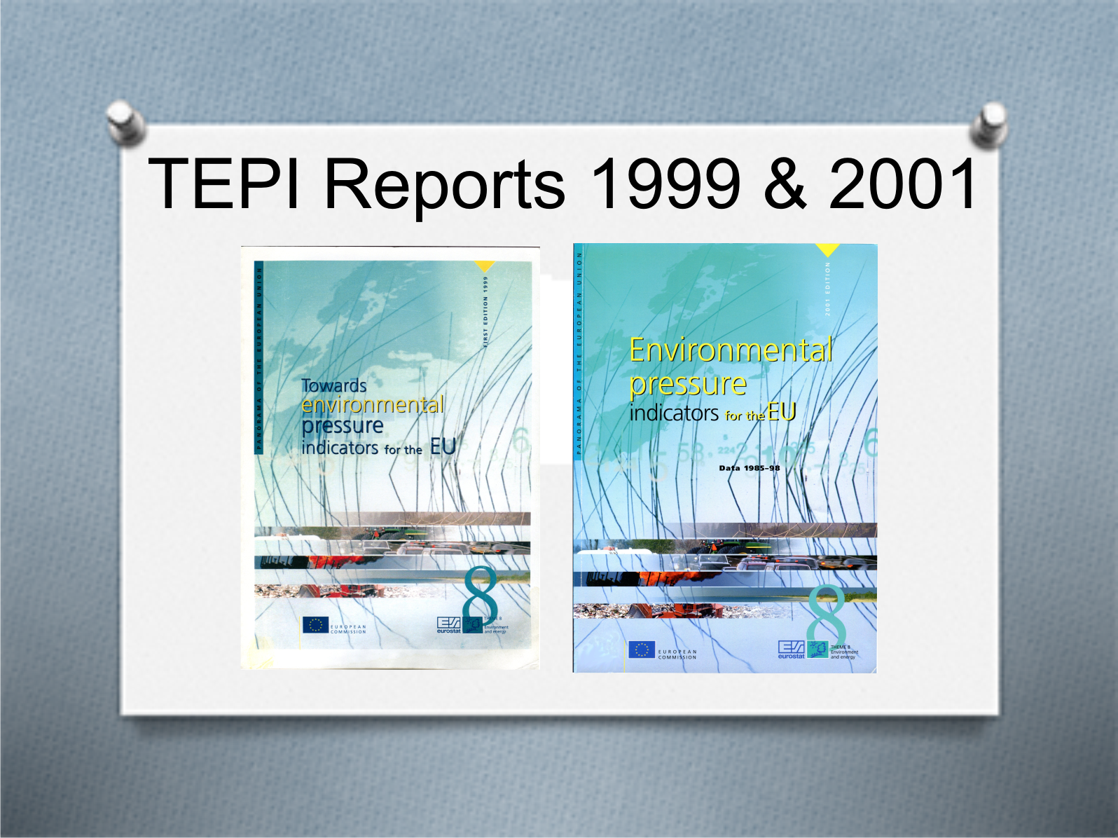 Rapporten Towards Environmental Pressure Indices for the EU